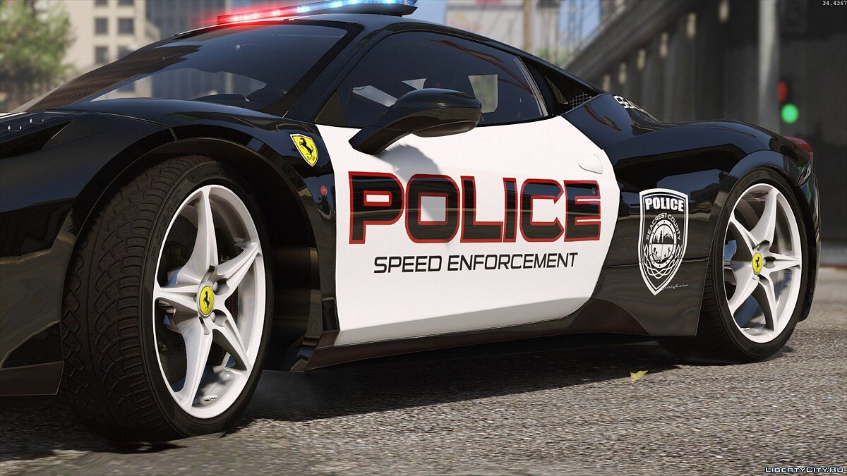 Ferrari 458 Italia | Hot Pursuit Police | AUTOVISTA [Add-On / Replace | Template] для GTA 5 - скриншот #10