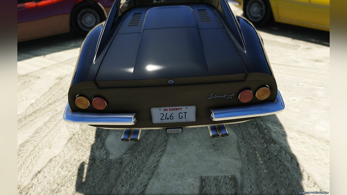 1969 Ferrari Dino 246 GT [Add-On / Replace] 1.0 для GTA 5 - скриншот #6