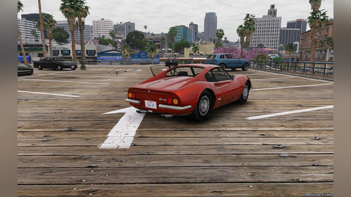 1969 Ferrari Dino 246 GT [Add-On / Replace] 1.0 для GTA 5 - скриншот #5