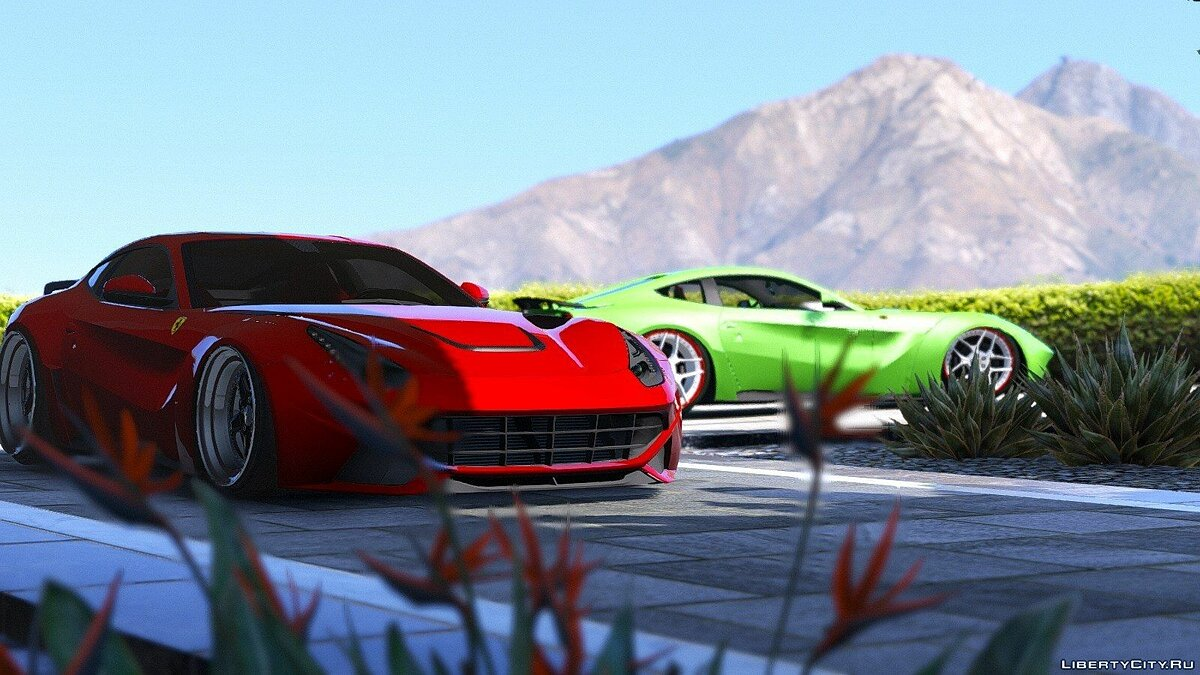 F12 N-Largo Rosso DTD Edition [Air Ride System/Add-On] 1.0 для GTA 5 - скриншот #2