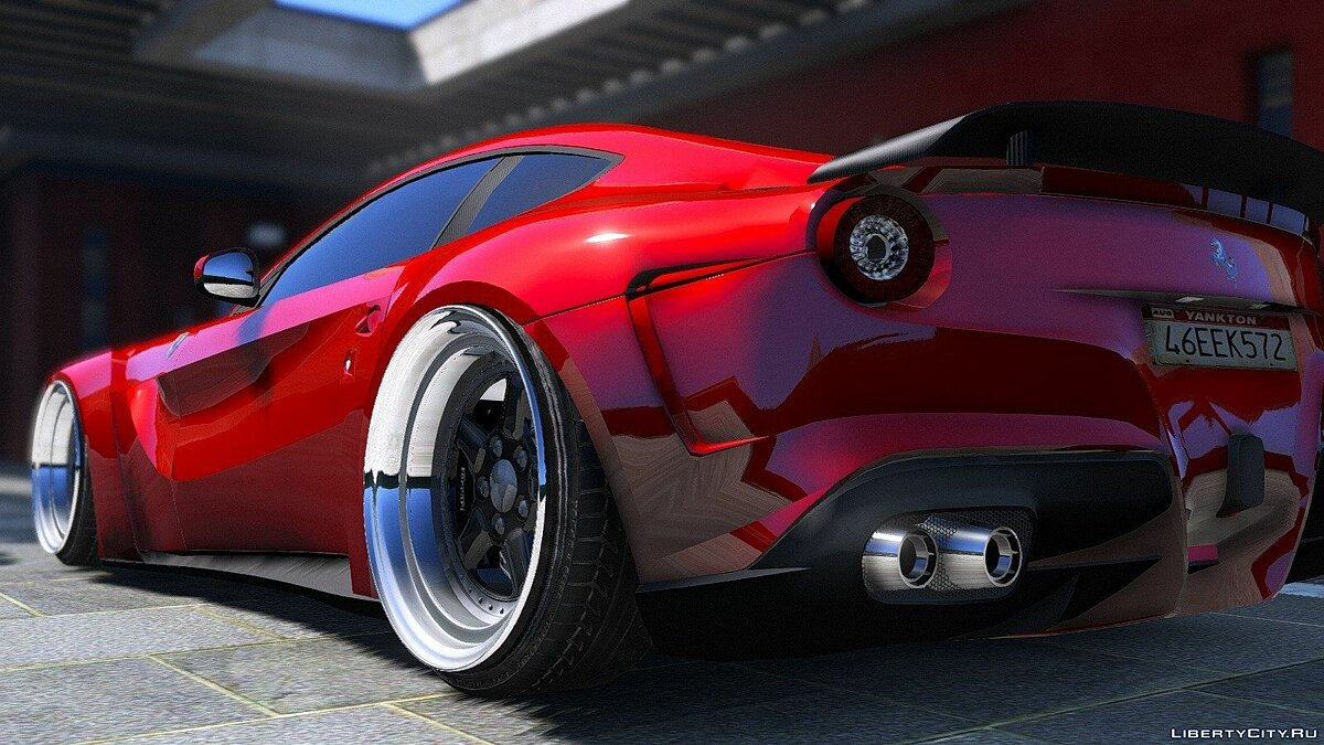 F12 N-Largo Rosso DTD Edition [Air Ride System/Add-On] 1.0 для GTA 5 - скриншот #7
