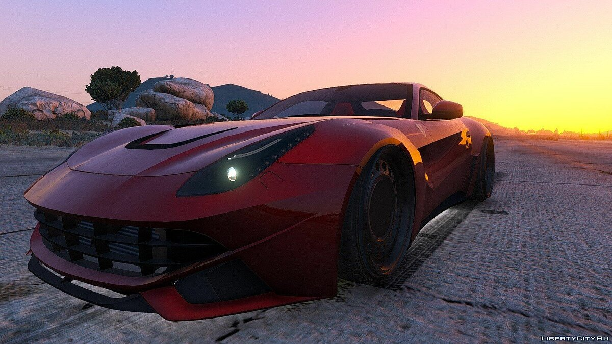 F12 N-Largo Rosso DTD Edition [Air Ride System/Add-On] 1.0 для GTA 5 - скриншот #8