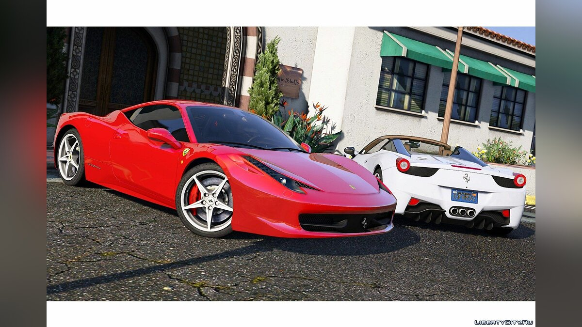 Машина Ferrari Ferrari 458 Italia & Spider (2 Cars Pack) [Add-On / Replace | Tuning | Livery] 2.51 для GTA 5