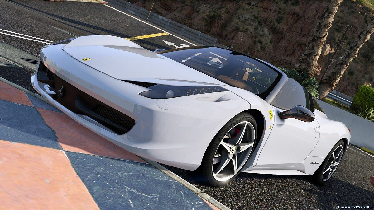 Машина Ferrari Ferrari 458 Italia & Spider (2in1) [Add-On / Replace | Tuning | Livery] 2.4 для GTA 5