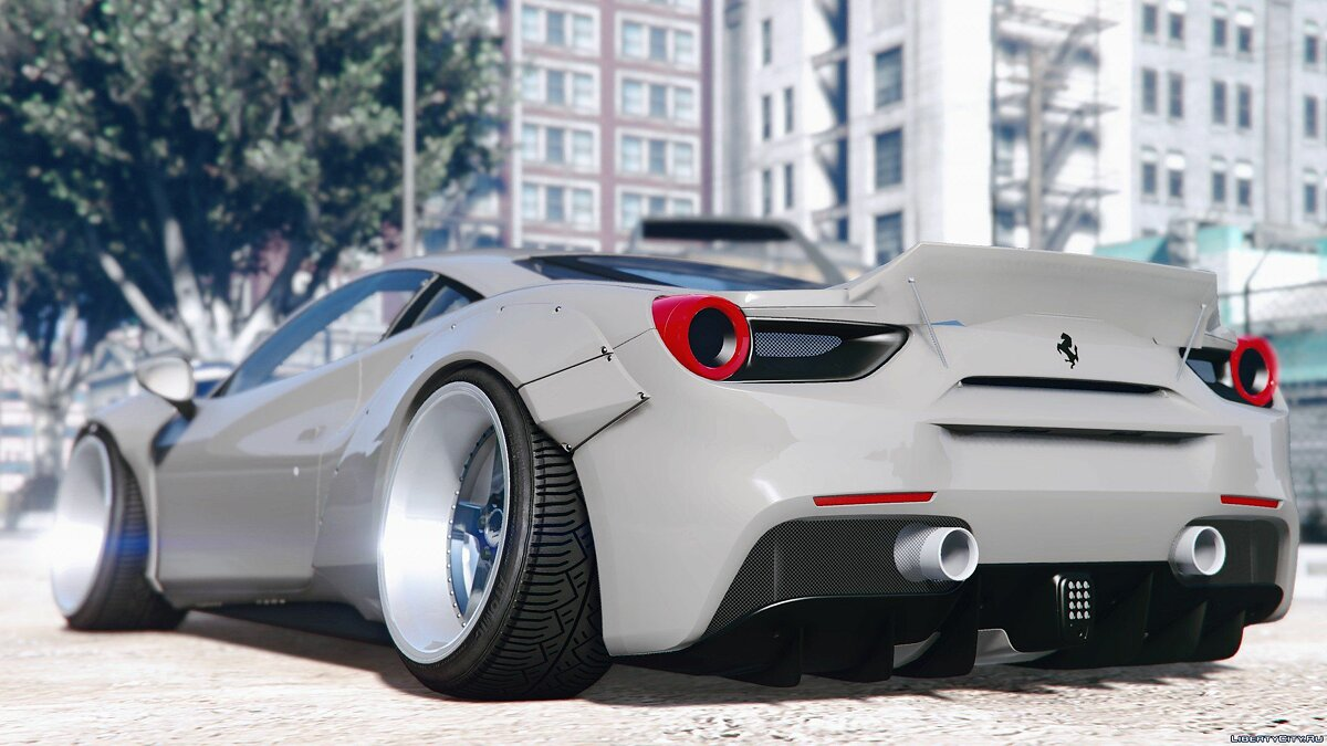 2016 Ferrari 488 Liberty Walk 0.1 для GTA 5 - скриншот #4