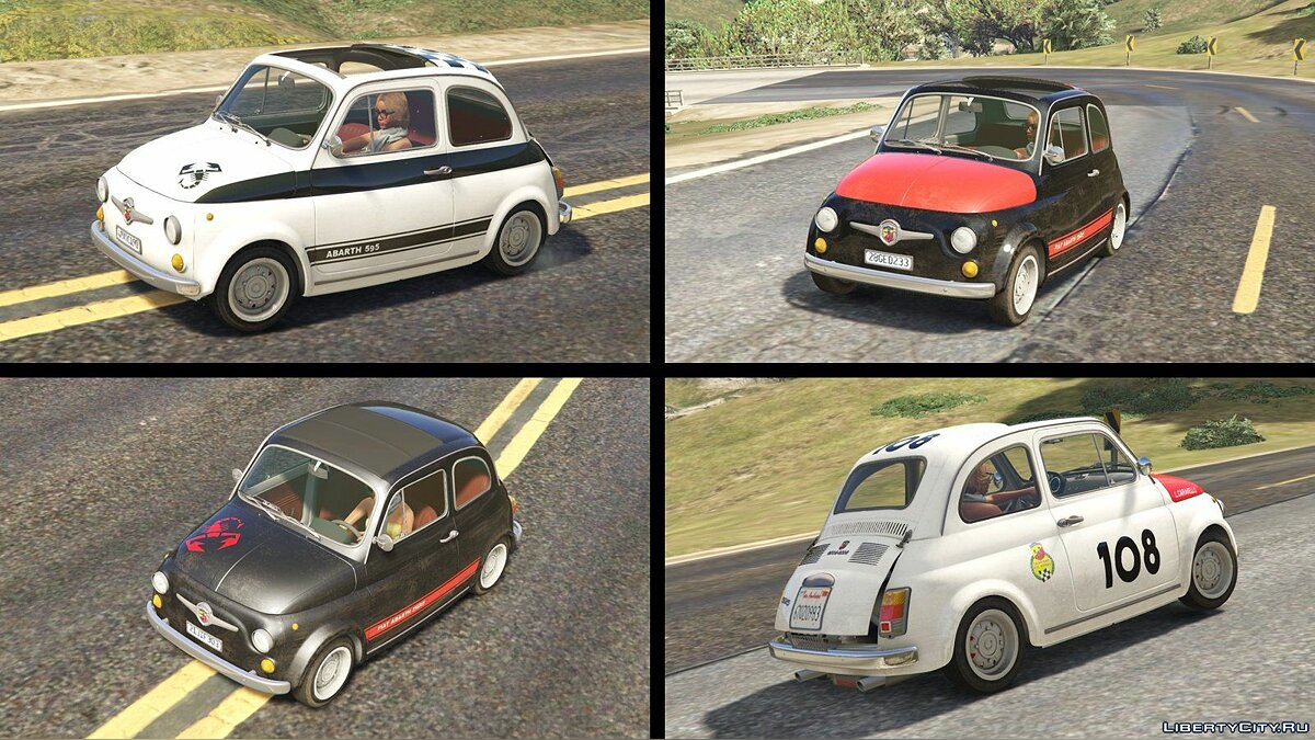 Fiat Abarth 595ss (2in1) [Add-On / Replace | Tuning | Livery] 1.1 для GTA 5 - скриншот #6