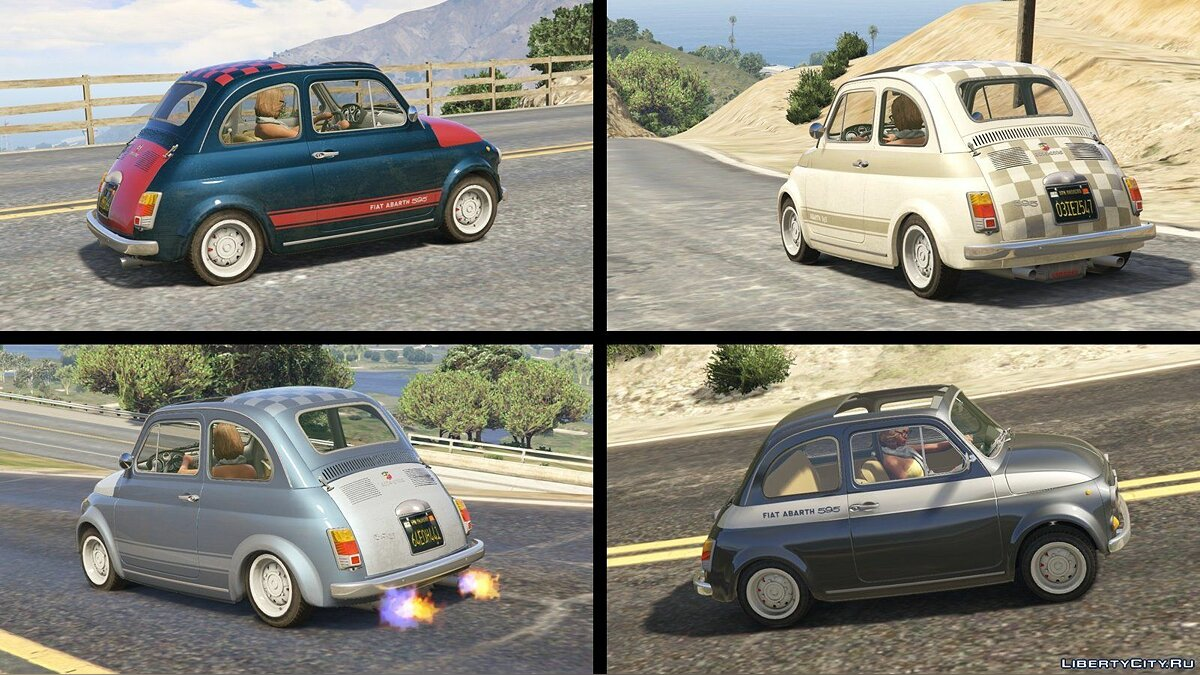 Fiat Abarth 595ss (2in1) [Add-On / Replace | Tuning | Livery] 1.1 для GTA 5 - скриншот #7