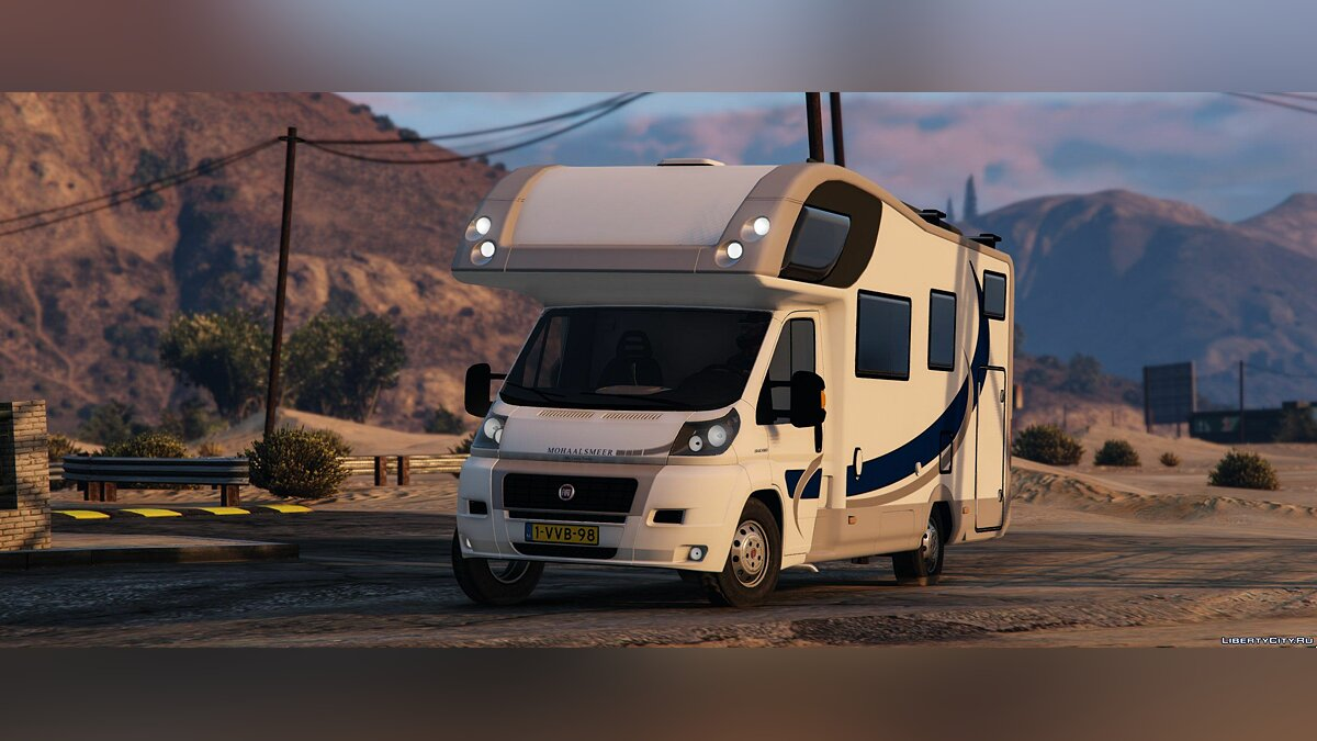 Fiat Campervan + Bike Trailer 0.1 [BETA] для GTA 5