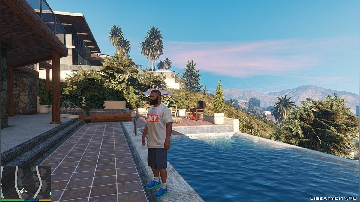 ��бувь и перчатки Nike Air Force & Flyknit for Franklin для GTA 5