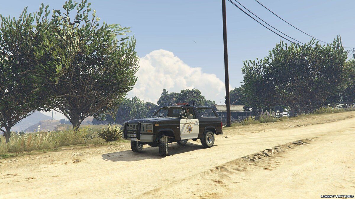 1980 Ford Bronco California Highway Patrol 1.0 для GTA 5