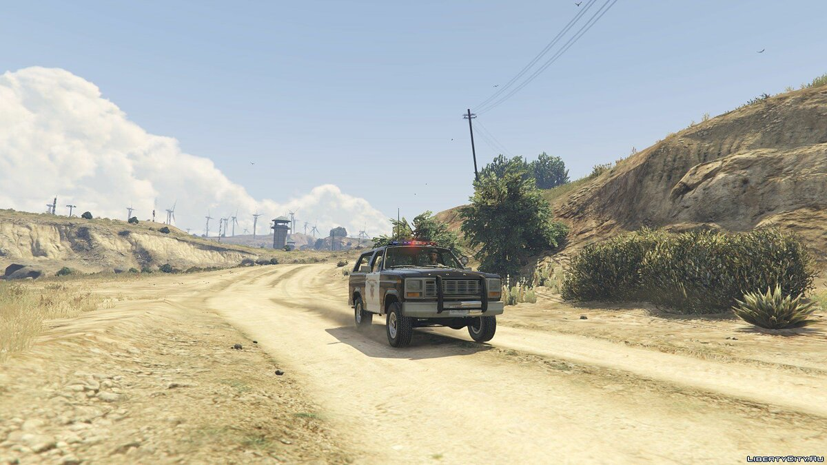 1980 Ford Bronco California Highway Patrol 1.0 для GTA 5 - скриншот #3