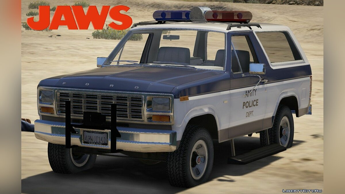 Машина Ford Ford Bronco Jaws Amity Police [Replace] для GTA 5