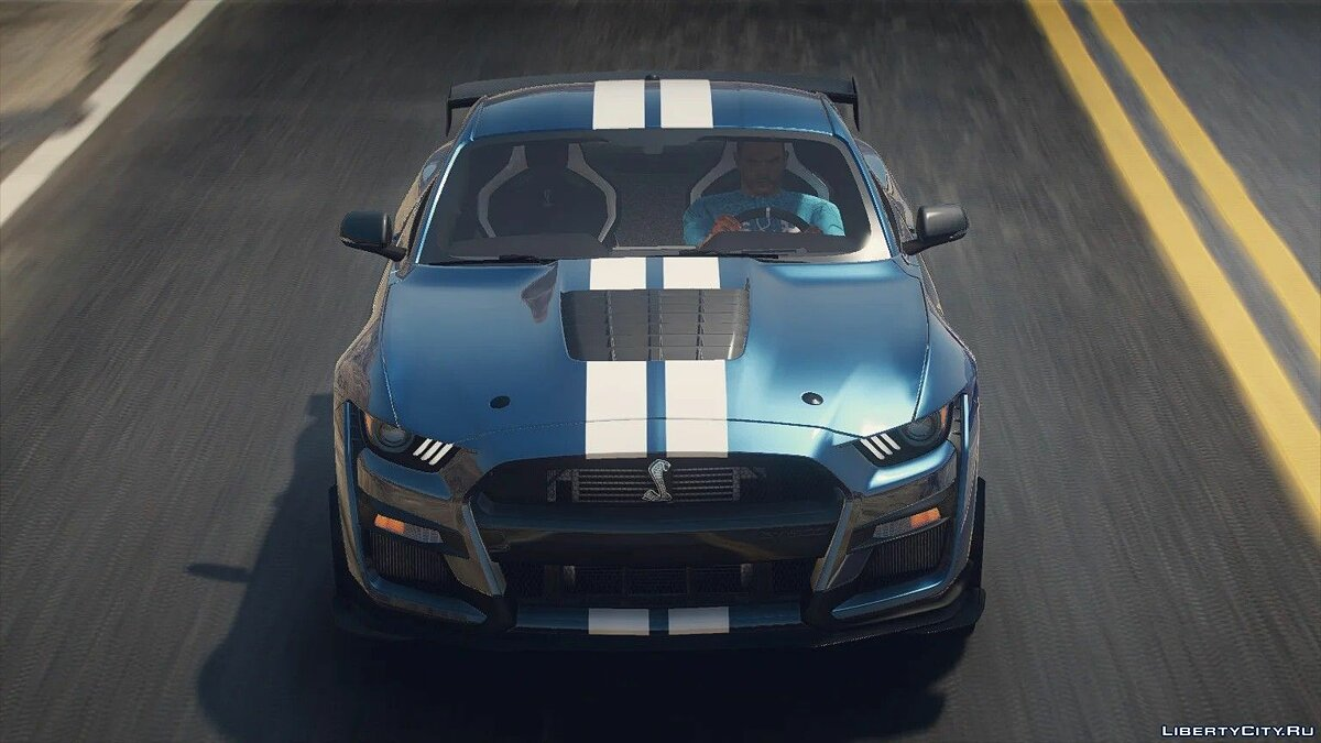 Машина Ford Ford Mustang Shelby GT500 2020 [Add-On | LODs | Template | Sound] 1.0 для GTA 5