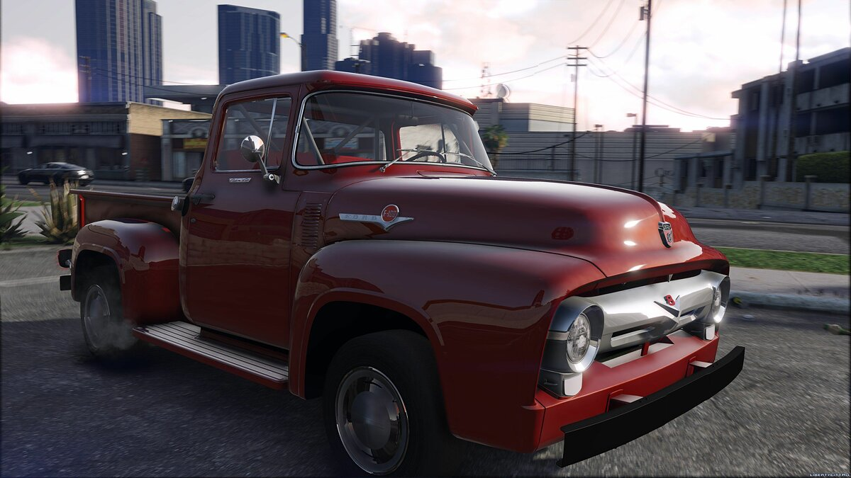 56 Ford F100 [FH3] | ADDON | Animated Engine & Exhaust 1.3 для GTA 5
