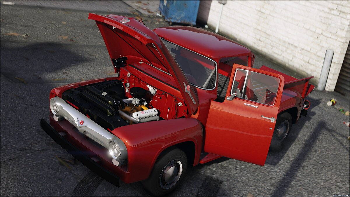 56 Ford F100 [FH3] | ADDON | Animated Engine & Exhaust 1.3 для GTA 5 - скриншот #4