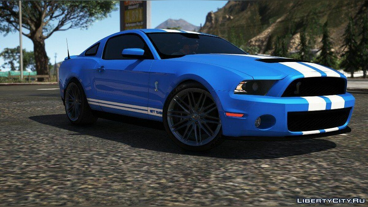 Машина Ford Ford Shelby GT500 2010 [ADD-ON/HQ/Dirt/Templated] V2.0 для GTA 5
