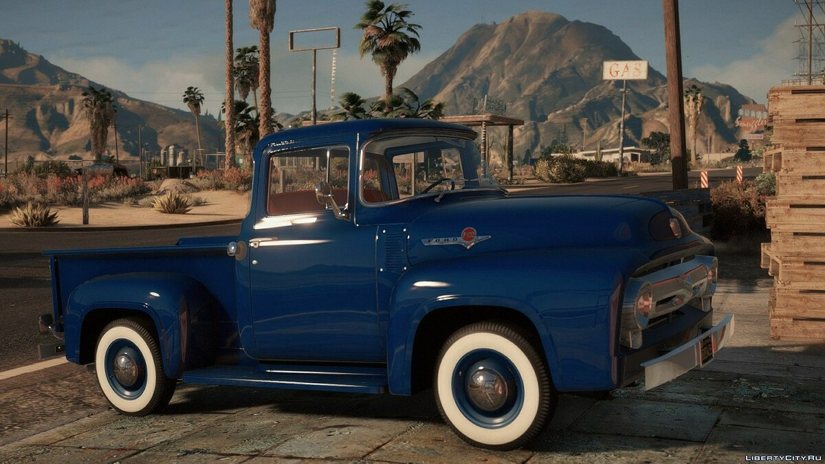 Машина Ford 1956 Ford F-100 Pack [Add-On | LODs | Template] 1.0 для GTA 5