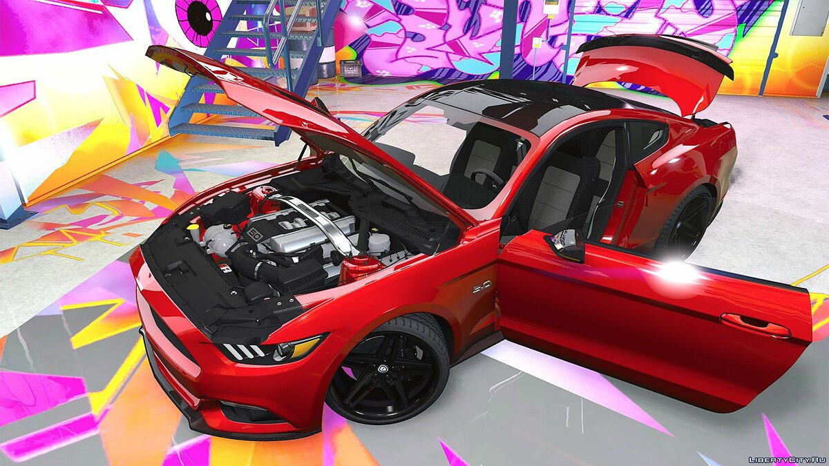 Ford Mustang GT 2015 [Add-On / Replace / Animated | Template] 1.0a для GTA 5 - скриншот #12