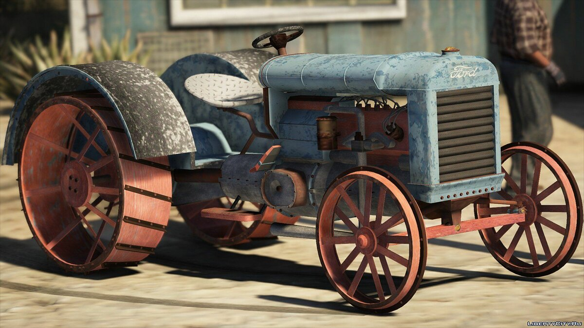 ��ашина Ford Old tractor retextured Ford 1.0 для GTA 5