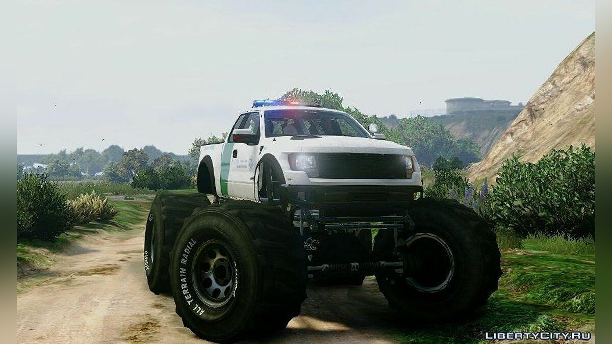 Машина Ford Ford Raptor Border Patrol Monster Truck 1.0 для GTA 5