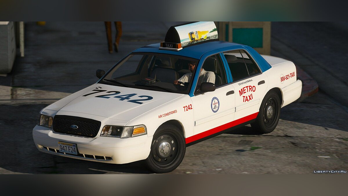 2011 Ford Crown Victoria Taxi [Replace] 1.1.0 для GTA 5