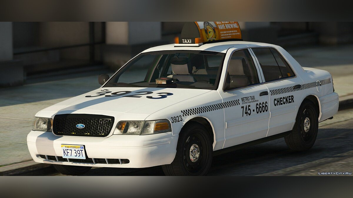 2011 Ford Crown Victoria Taxi [Replace] 1.1.0 для GTA 5 - скриншот #3
