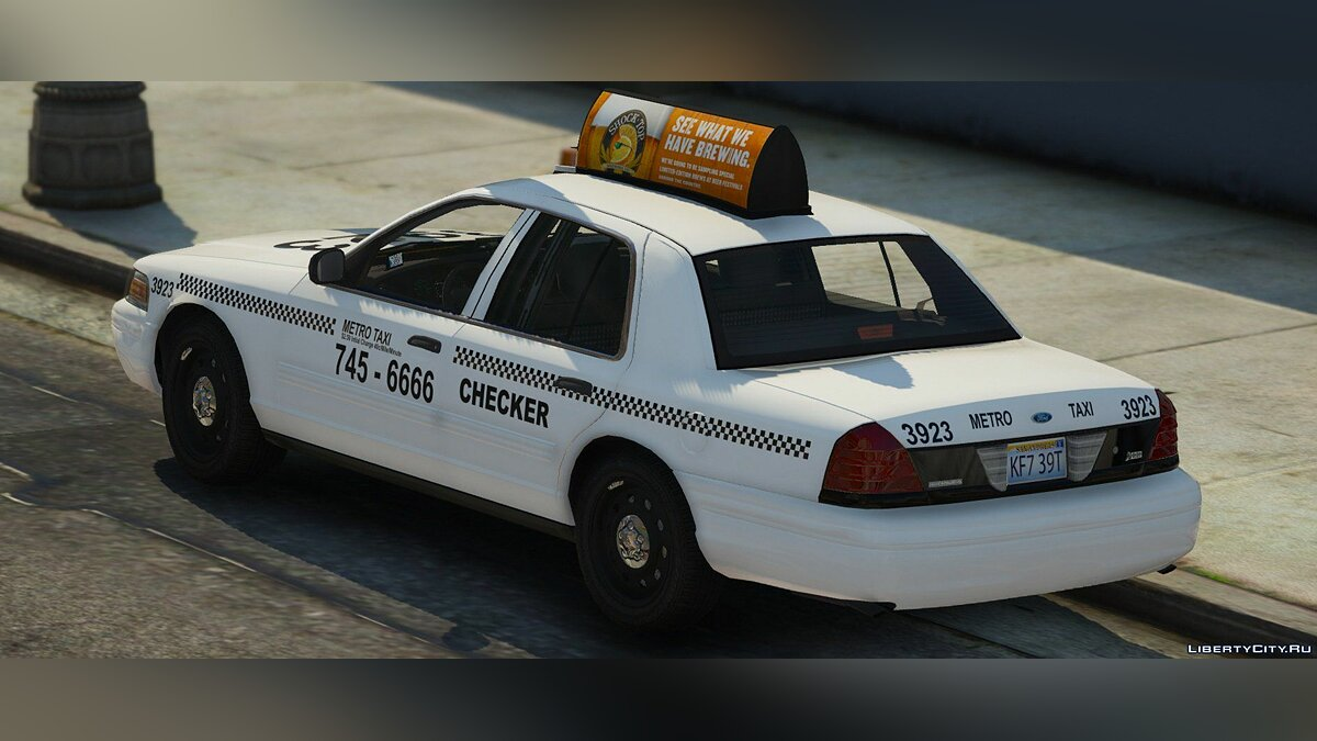 2011 Ford Crown Victoria Taxi [Replace] 1.1.0 для GTA 5 - скриншот #4