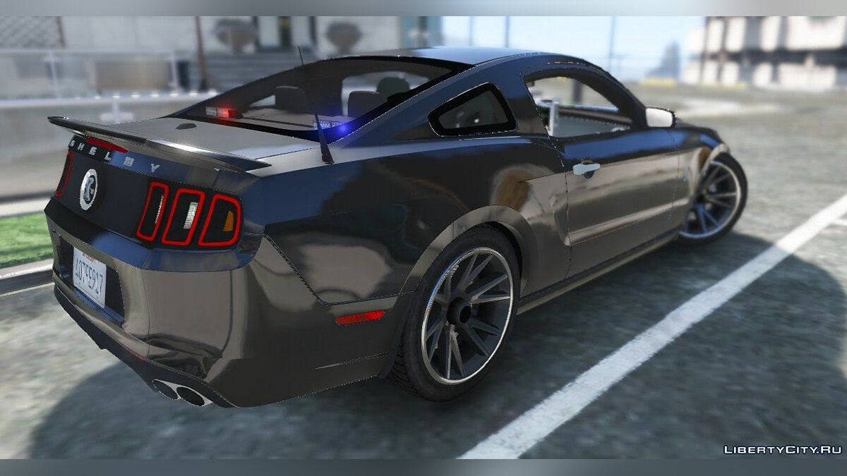 Unmarked Mustang GT500 для GTA 5 - скриншот #4