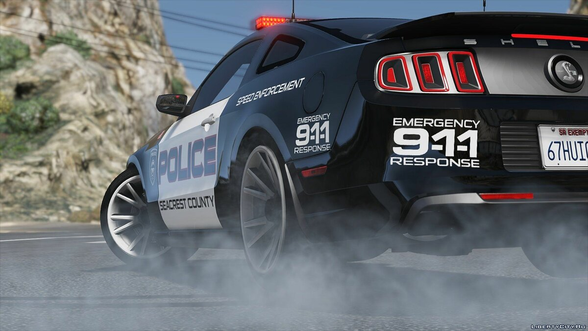 Ford Shelby GT500 | Hot Pursuit Police [Add-On / Replace | Template] 2.0 для GTA 5 - скриншот #3