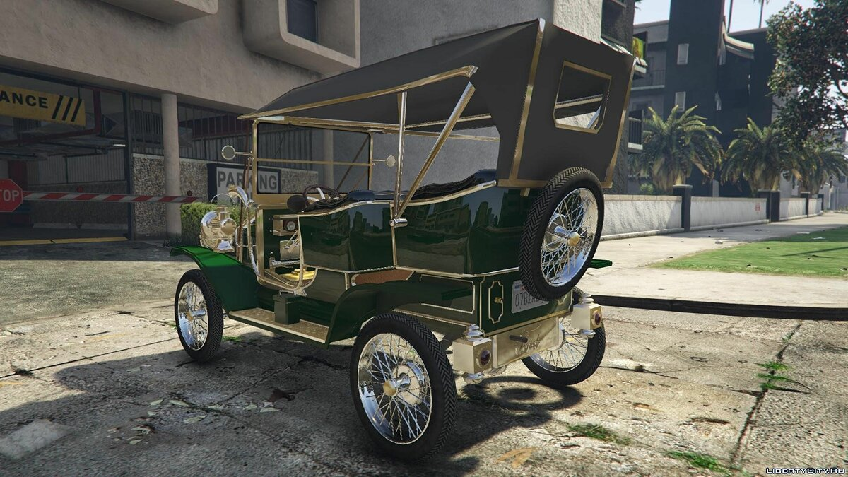 Ford T 1910 Passenger Open Touring Car для GTA 5 - скриншот #3