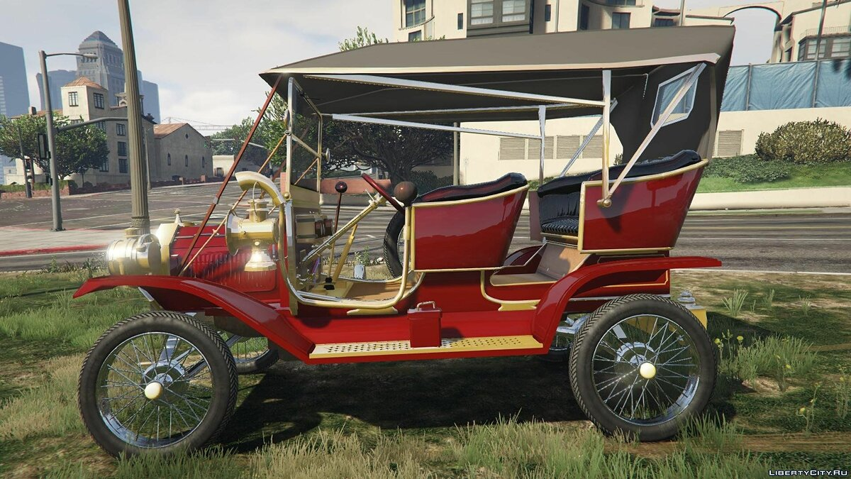 Ford T 1910 Passenger Open Touring Car для GTA 5 - скриншот #4