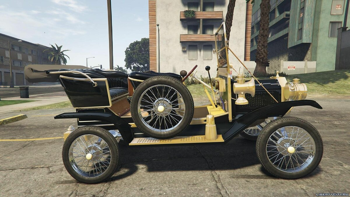 Ford T 1910 Passenger Open Touring Car для GTA 5 - скриншот #5
