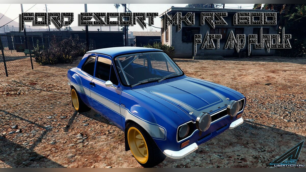 Ford Escort MK1 (with Fast & Furious 6 Livery) 1.5 для GTA 5