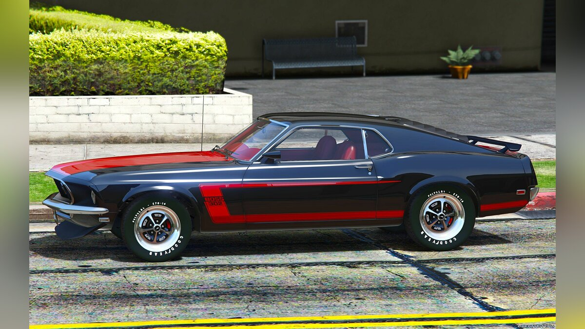 Машина Ford 1969 Ford Mustang Boss 302 [Replace-Addon] 1.1 для GTA 5