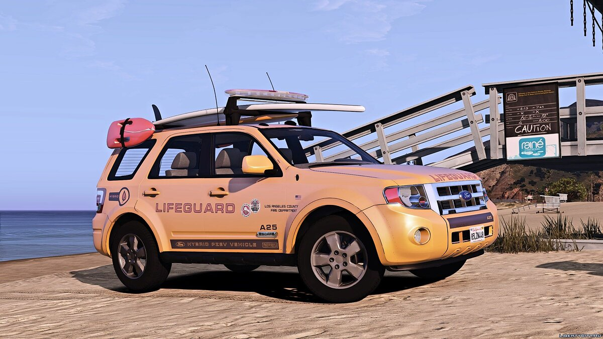 Машина Ford Ford Escape 2012 LA Lifeguard [Add-on/Replace] [ELS|Wipers] 1.0 для GTA 5