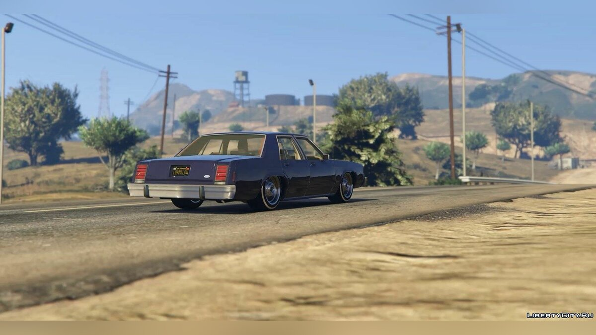 1987 Ford Crown Victoria LTD [Handling, sound, livery] для GTA 5 - скриншот #3