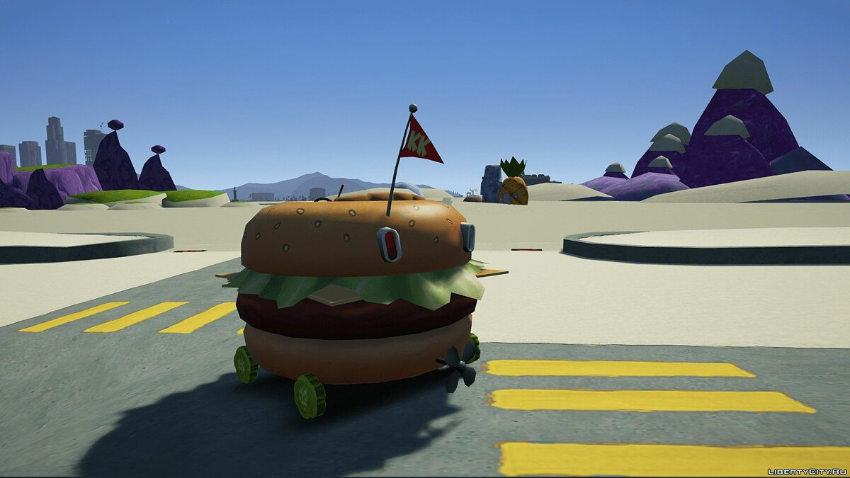 Прикольная машина Spongebobs Burger Mobile [Add-On | Unlocked] 1.0 для GTA 5