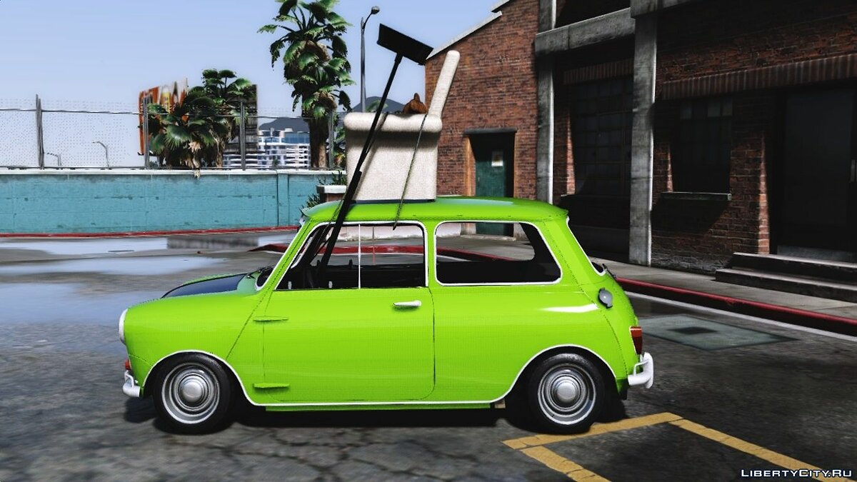 ��рикольная машина Mr. Bean Mini Cooper [Replace] для GTA 5