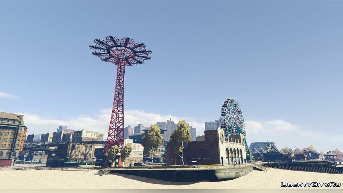 ��ольшой мод Grand Theft Auto V: Liberty City [ALPHA] v0.1 для GTA 5