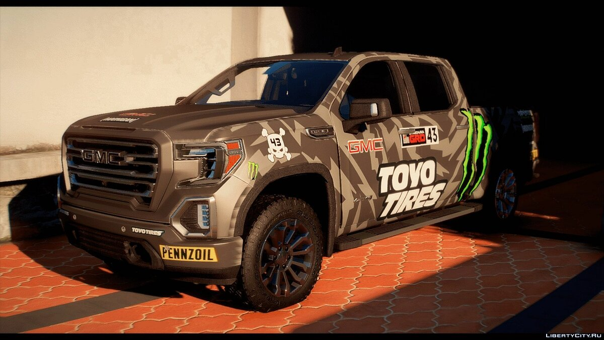 Машина GMC 2019 GMC Sierra AT4 [Add-on | FiveM | Templated | 21 Liveries] 1.0 для GTA 5