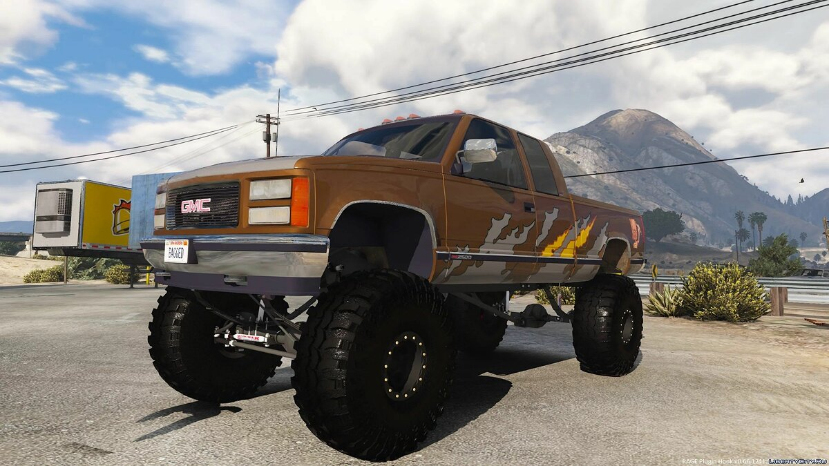Машина GMC 1995 GMC Sierra 2500 Custom 4x4 [Add-On | Livery] 1.0 для GTA 5