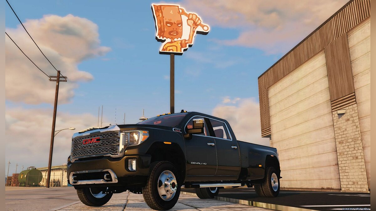 Машина GMC 2020 GMC Sierra Denali HD3500 [Add-On] 1.0 для GTA 5