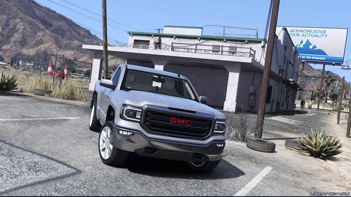 Машина GMC GMC Sierra 2018 single cab [ Unlocked ] 0.1 Beta для GTA 5