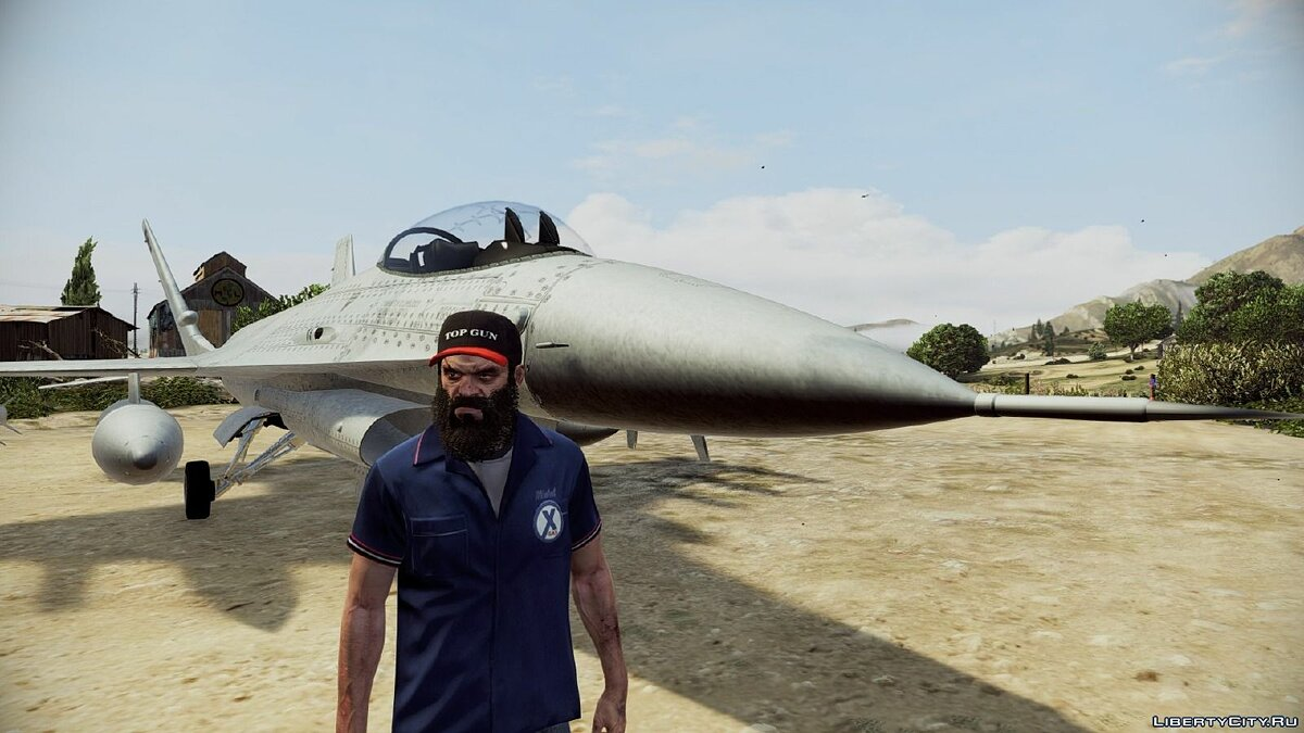 ��апка Top lel + Original Top Gun Hats for Trevor для GTA 5