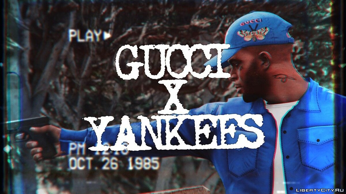 Шапка Кепка GUCCI X YANKEES для GTA 5