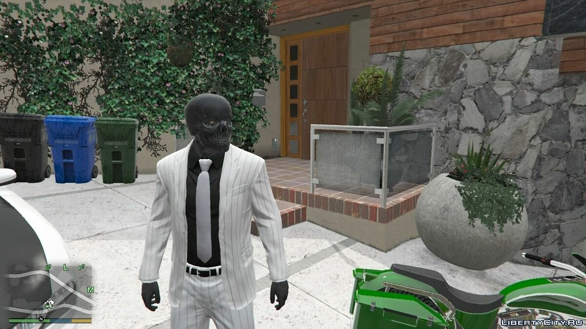 ��апка Franklin Black Mask Mod для GTA 5