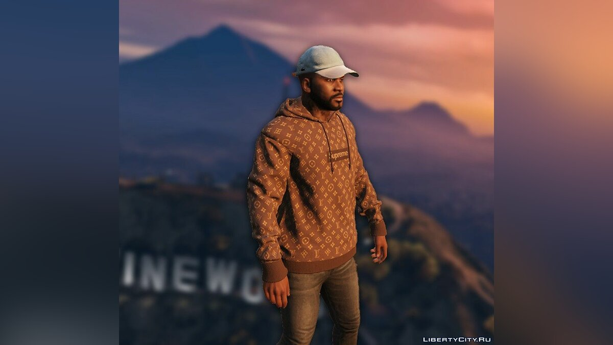 Шапка Lacoste Cap w/ Leather Strap 1 для GTA 5