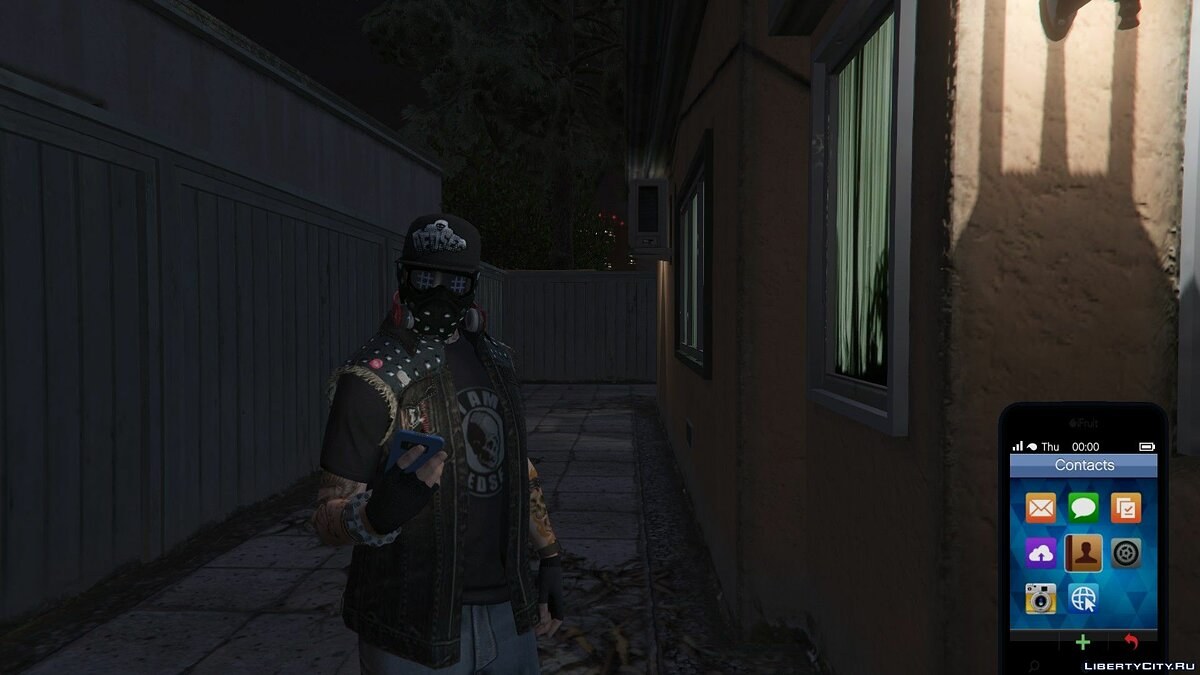 ��апка DedSec Hat for MP Male для GTA 5