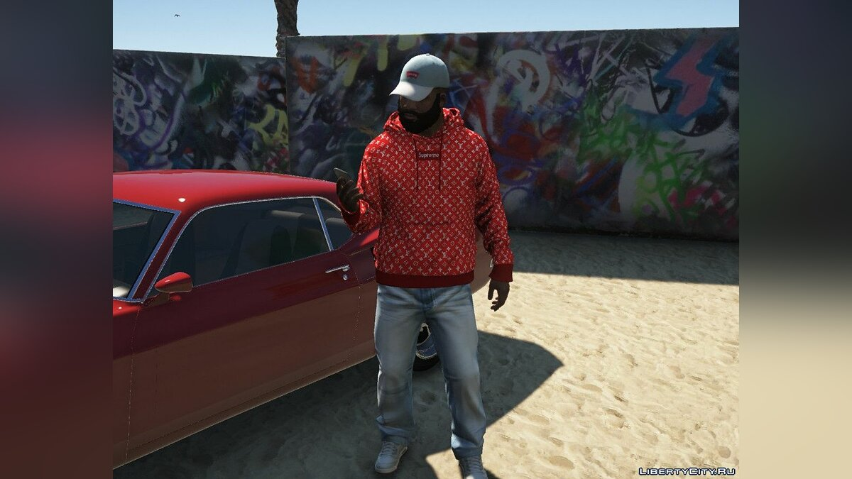 Шапка Levi's Cap for Franklin 1.0 для GTA 5
