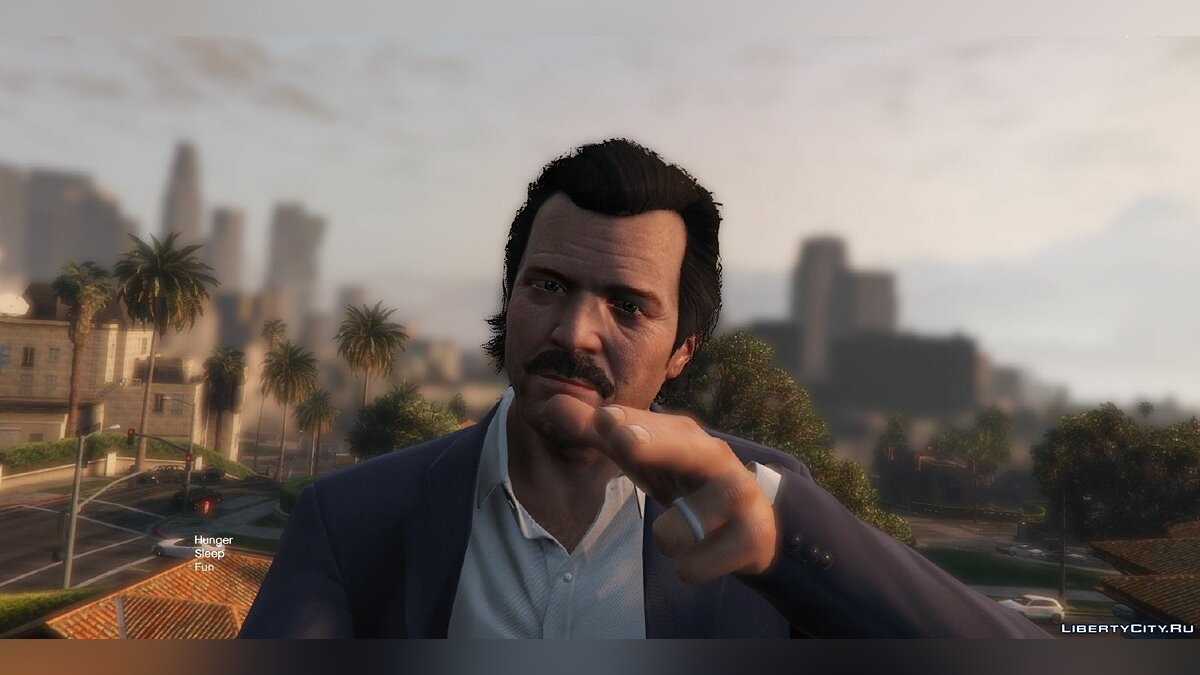 ��рическа и борода Moustache for Michael/Усы для Майкла для GTA 5